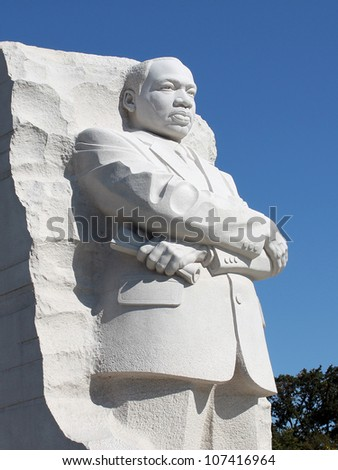 Martin Luther King Jr. Monument in Washington DC - stock photo
