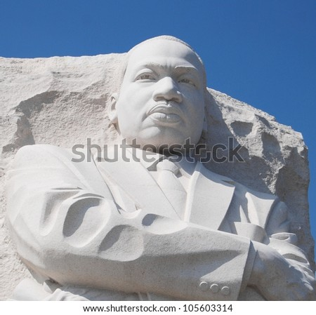 Martin Luther King Memorial in Washington DC, USA - stock photo
