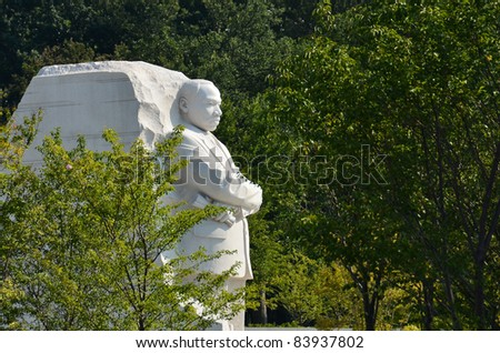Martin Luther King Monument in Washington DC, USA - stock photo