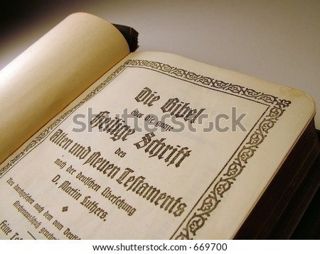 Martin Luther's translation of the Bible into German. - stock photo