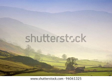 martindale in the english lake district cumbria england uk - stock photo