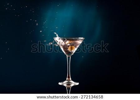 Martini, Cocktail, Glass. - stock photo
