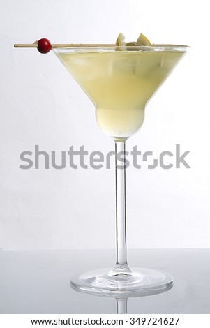 martini cocktail on white background