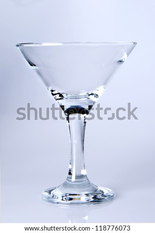 Martini glass close-up,