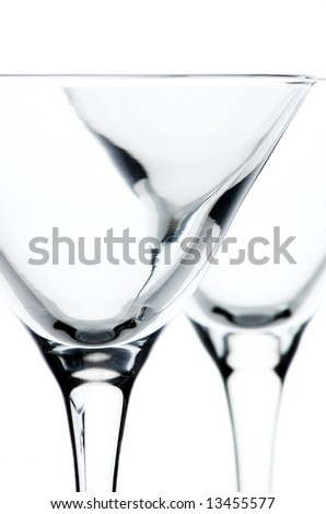 Martini glasses close up