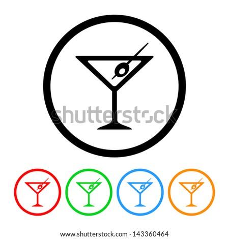 Martini Icon - Raster Version.Vector Also Available - stock photo