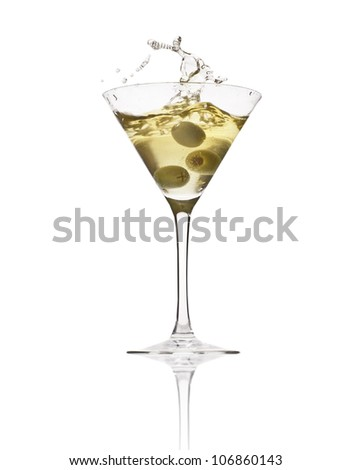 martini in glass