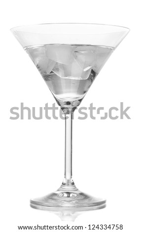 Martini in glass isolated on white - stock photo
