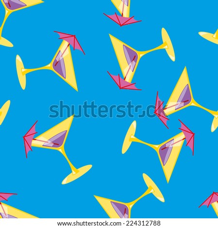 Martini seamless  pattern illustration clip art