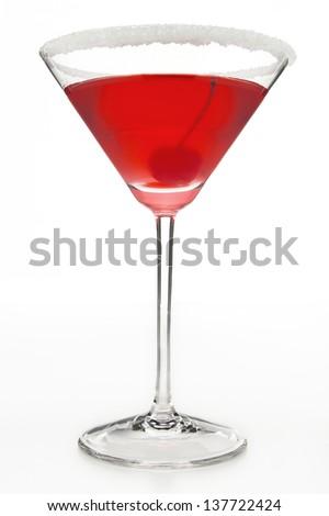 Martini with Cherry - stock photo