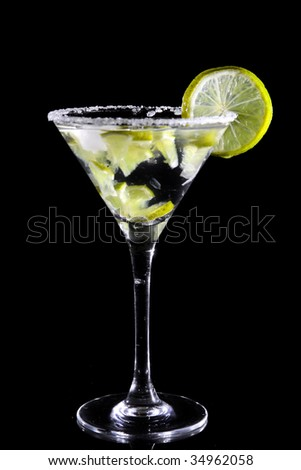 Martini with lime - stock photo