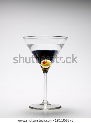 Martini with olives  - stock photo