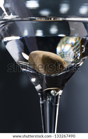 Martinis on the dance floor with nice illumination - stock photo