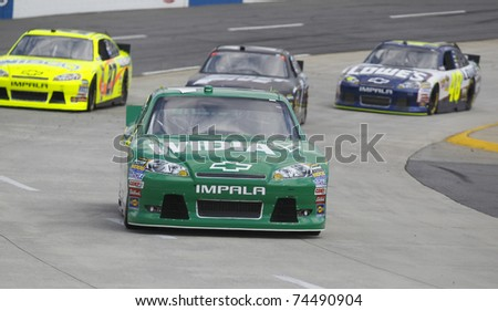 MARTINSVILLE, VA - APR 01:  Jamie McMurray (1) takes to the track for a practice session for the Goody's Fast Relief 500 race at the Martinsville Speedway in Martinsville, VA on Apr 01, 2011.
