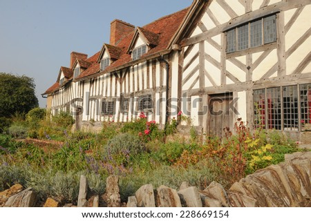 Mary Arden's House, the mother of William Shakespeare, in Wilmcote next to Stratford upon Avon, Warwickshire, England, Uk - stock photo