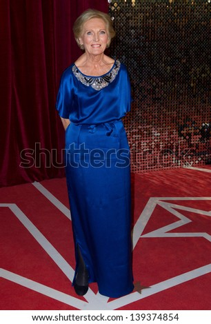 Mary Berry arriving for the 2013 British Soap Awards, Media City, Manchester. 18/05/2013