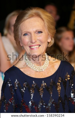 Mary Berry at The Pride of Britain Awards 2013 - Arrivals London. 07/10/2013 - stock photo