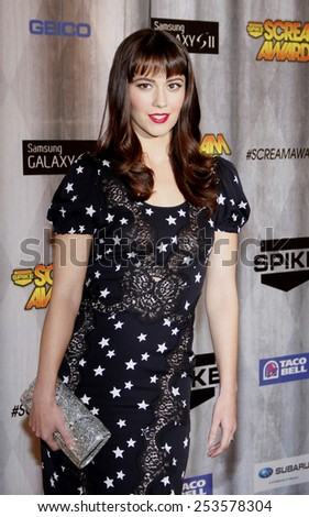 Mary Elizabeth Winstead at the Spike TV's 2011 Scream Awards held at the Gibson Amphitheatre in Universal City on October 15, 2011. - stock photo