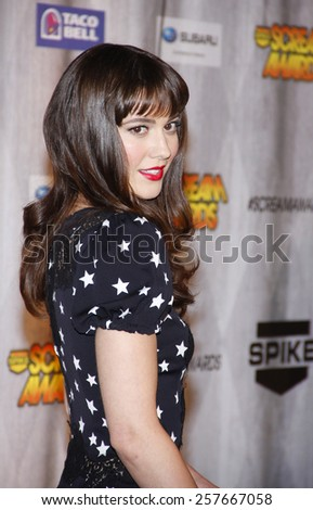 Mary Elizabeth Winstead at the Spike TV's 'SCREAM 2011' awards held at Universal Studios in Universal City, California on October 15, 2011. - stock photo