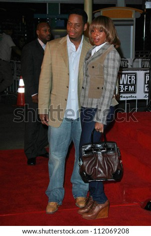 "Mary J Blige and husband Kendu Isaacs at the premiere of ""I Think I Love My Wife"". ArcLight Theatre, Hollywood, CA. 03-07-07"