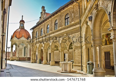 Mary of Bistrica shrine architecture - The Catholic Basilica in Zagorje, Croatia - stock photo