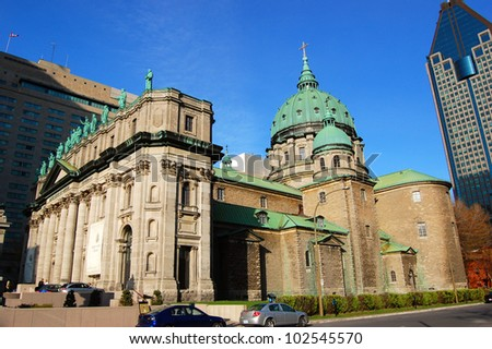 Mary Queen of the World Cathedral in Montreal, Quebec, Canada - stock photo