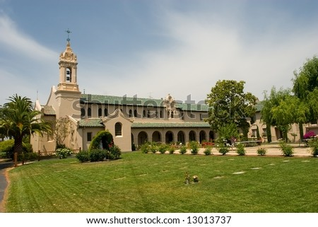 Maryknoll Residence was built in 1926 as a residential seminary for students who were studying for the Roman Catholic priesthood. - stock photo