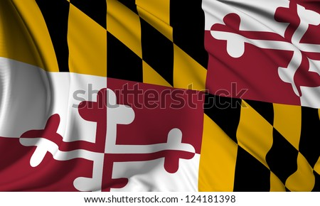 Maryland flag - USA state flags collection no_3 - stock photo