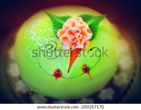 Marzipan cake - stock photo