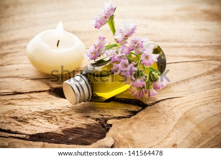 Masage body oil. - stock photo