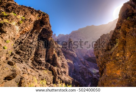 Masca canyon at Tenerife, Spain