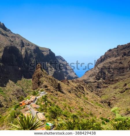 Masca Village in Tenerife, Canary Islands, Spain - stock photo