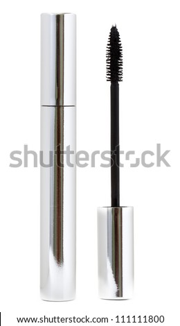 Mascara isolated on white background - stock photo