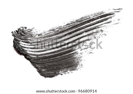 Mascara smudge - stock photo