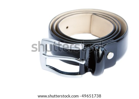 masculine classic strap on a white background