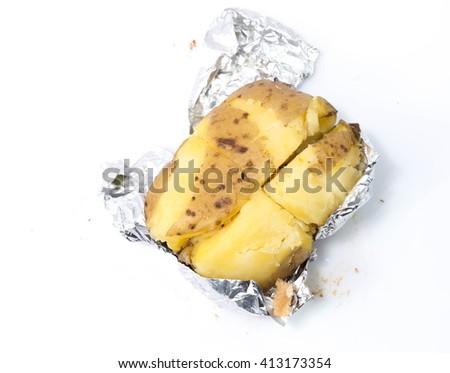 mash potato - stock photo