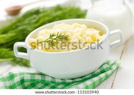 Mashed potato - stock photo