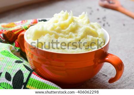 Mashed potatoes. Food photography. - stock photo