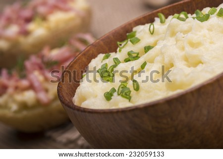 Mashed potatoes with greenonion