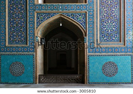 Masjed-i Jame' Mosque in Yazd, Iran