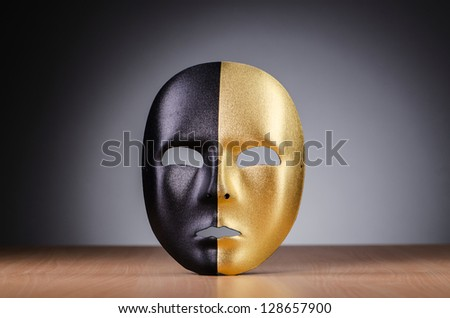 Mask against the dark background