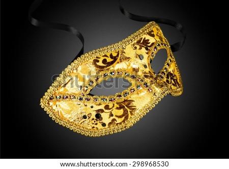 Mask, Costume, Masquerade Mask. - stock photo