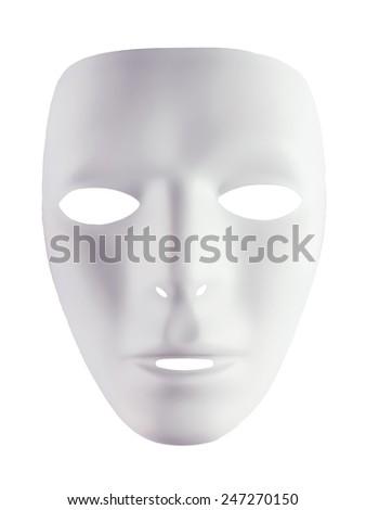 Mask for drama isolated on white background - stock photo