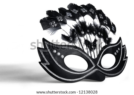 Mask for masquerade and mardi gras - stock photo