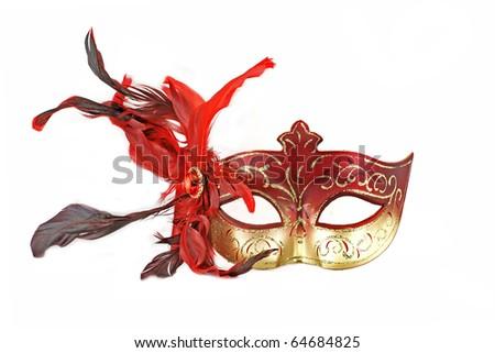 Mask (Fullface) isolated on white - stock photo