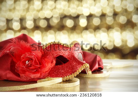 mask of red  - stock photo