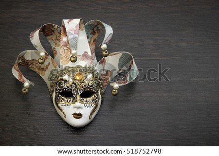 Mask of Venice on dark background