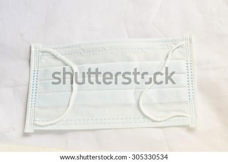 mask on white background - stock photo