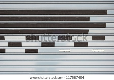 Masking tape on metal - stock photo