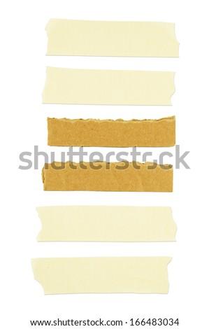 Masking tape on white background. - stock photo